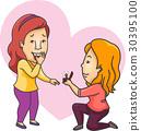 couple propose girls 30395100
