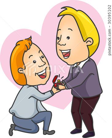 Couple Propose Men Gay 30395102