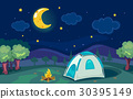 camping, tent, stars 30395149