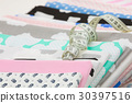cotton fabric material and tailor measurement tape 30397516