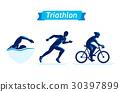 triathlon, vector, figure 30397899