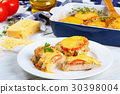 portion of meat casserole with vegetables 30398004