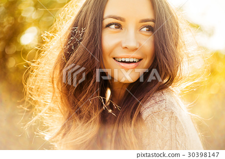 Atmospheric portrait of beautiful young lady 30398147