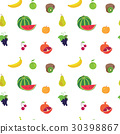 Fruit pattern on a white background 30398867