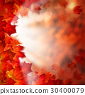 Autumn Leaves on Fall Background 30400079