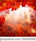 Abstract Autumn Background Border 30400086