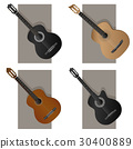 Vector illustration of some types guitar. 30400889