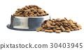 Dry kibble dog food. 30403945