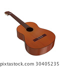 realistic acoustic guitar 3d illustration 30405235