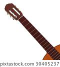 realistic acoustic guitar 3d illustration 30405237