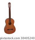 realistic acoustic guitar 3d illustration 30405240