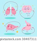 cartoon organs do exercise 30407311