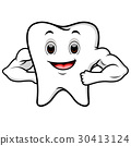 Strong tooth cartoon 30413124
