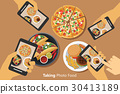 People take a photo of food with smartphone 30413189
