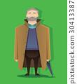 man, old, cartoon 30413387