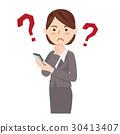 智能手机 事业女性 商务女性 30413407