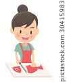 主婦 家庭主婦 烹飪 30415983