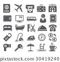 Hotel icons set 30419240