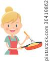 Housewife, housewife, rice 30419862