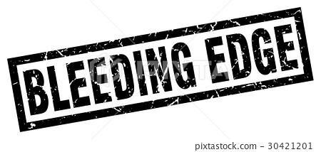 square grunge black bleeding edge stamp 30421201