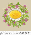 cup of clover tea 30422871