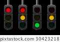 Traffic Light Signal Sequences Night 30423218