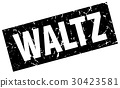 square grunge black waltz stamp 30423581