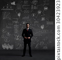 Business concept with a businessman in a suit 30423923