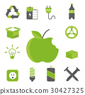 Recycling nature icons waste sorting environment 30427325
