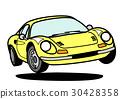 意大利歷史跑車黃色 30428358