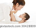 young asian Mother holding sweet baby boy 30428809