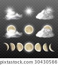 Set of vector realistic weather icons 30430566