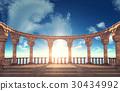 Ancient Roman column ruins 30434992