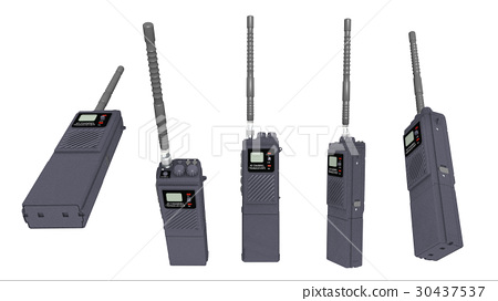 Walkie talkie isolated on white background 30437537