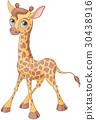 长颈鹿 可爱 卡通 30438916