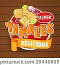 Tamales delicious logo, symbol, sticker. 30440605