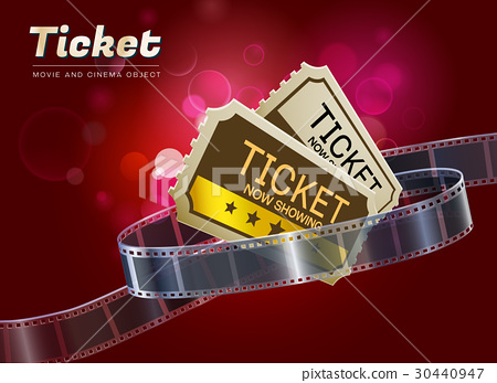 ticket movie cinema object vector illustration 30440947