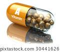 Vitamin A capsule or pill. Dietary supplements. 30441626