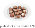Assortment of chocolate candies 30443370