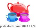 teapot, cup, tea 30443374