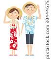 夏威夷衫 夏威夷衬衫 夫妇 30444675