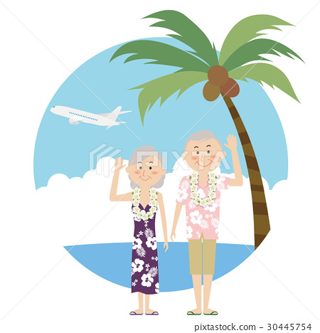 夏威夷衫 夏威夷衬衫 海水浴 30445754