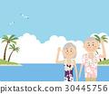 夏威夷衫 夏威夷衬衫 夫妇 30445756