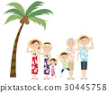 夏威夷衫 夏威夷衬衫 夫妇 30445758