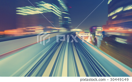 High speed technology concept via a Tokyo monorail 30449149