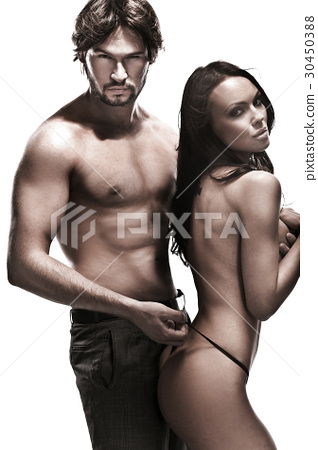 Portrait of a young sensual couple 30450388