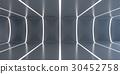 Dark abstract futuristic tunnel 30452758