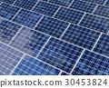 Solar panels field reflects sky and tree shades 30453824