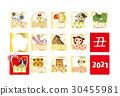 十二生肖 新年賀卡 賀年片 30455981