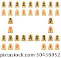 shogi, chess figure, white background 30456952